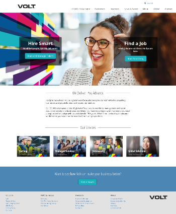 Volt Information Sciences, Inc. Website Screenshot