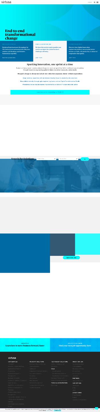 Virtusa Corporation Website Screenshot
