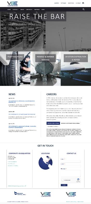 VSE Corporation Website Screenshot