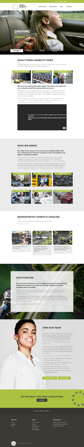 Verra Mobility Corporation Website Screenshot