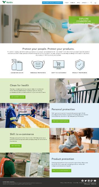 Veritiv Corporation Website Screenshot