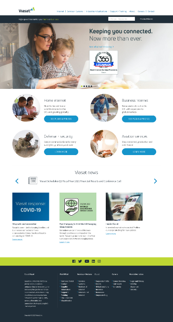 Viasat, Inc. Website Screenshot