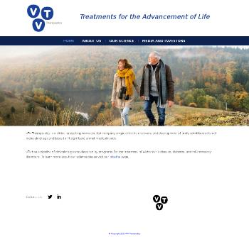 vTv Therapeutics Inc. Website Screenshot