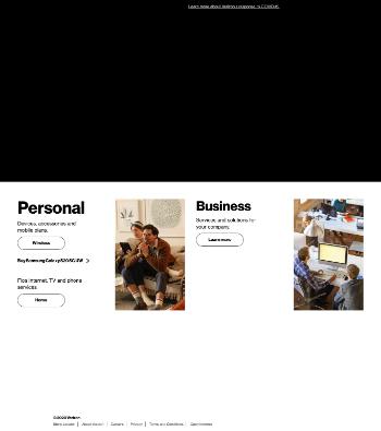 Verizon Communications Inc. Website Screenshot
