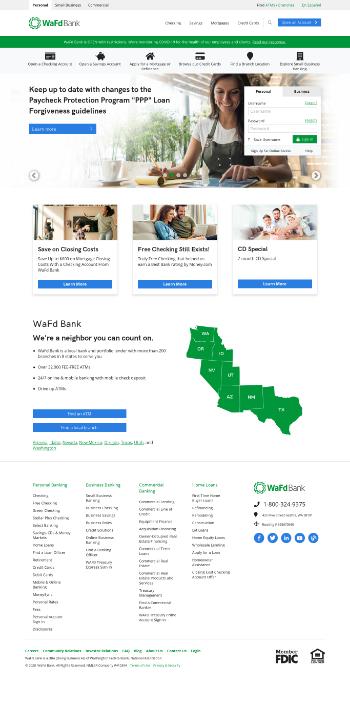 Washington Federal, Inc. Website Screenshot