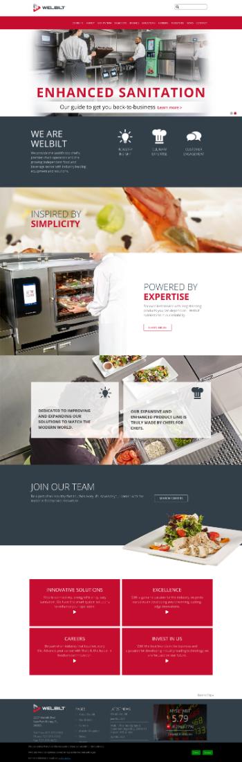 Welbilt, Inc. Website Screenshot