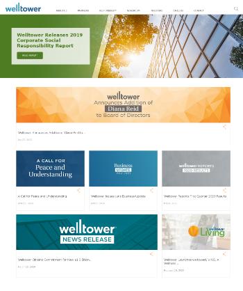 Welltower Inc. Website Screenshot