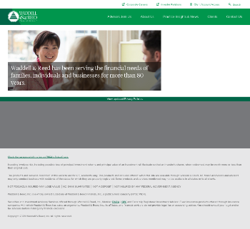 Waddell & Reed Financial, Inc. Website Screenshot