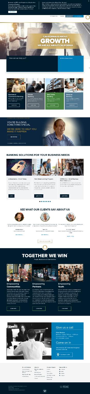 Banc of California, Inc. Website Screenshot