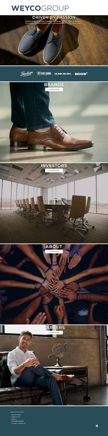 Weyco Group, Inc. Website Screenshot