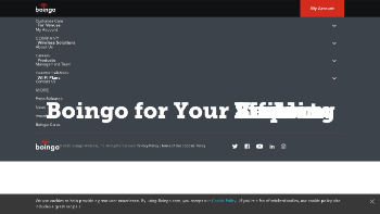Boingo Wireless, Inc. Website Screenshot