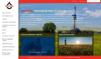 Whiting Petroleum Corporation Website Screenshot