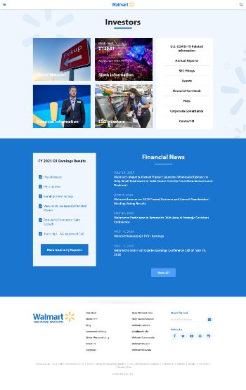 Walmart Inc. Website Screenshot