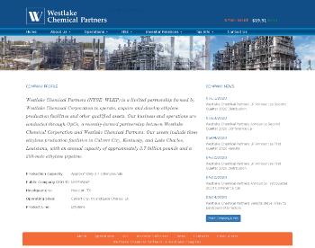 Westlake Chemical Partners LP Website Screenshot