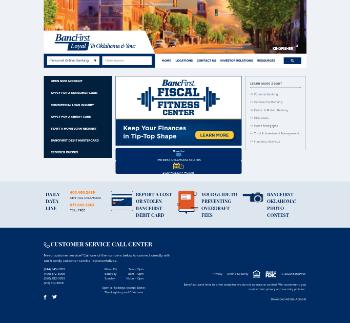 BancFirst Corporation Website Screenshot