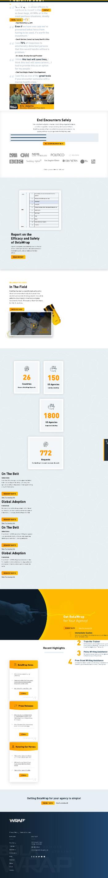 Wrap Technologies, Inc. Website Screenshot