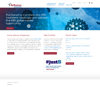Arbutus Biopharma Corporation Website Screenshot