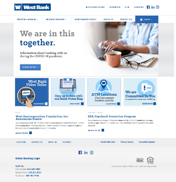 West Bancorporation, Inc. Website Screenshot