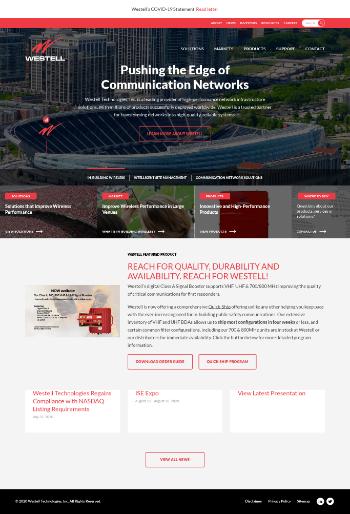 Westell Technologies, Inc. Website Screenshot
