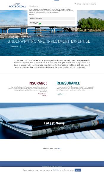 Watford Holdings Ltd. Website Screenshot