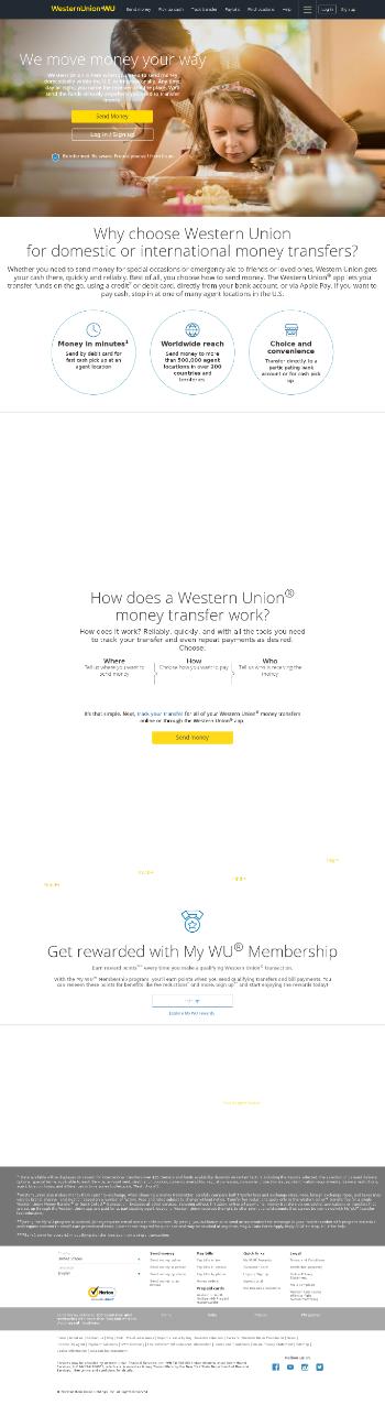 The Western Union Company Website Screenshot