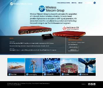 Wireless Telecom Group, Inc. Website Screenshot
