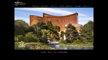 Wynn Resorts, Limited Website Screenshot