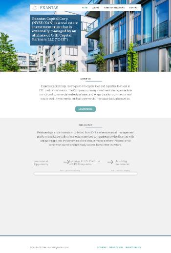 Exantas Capital Corp. Website Screenshot