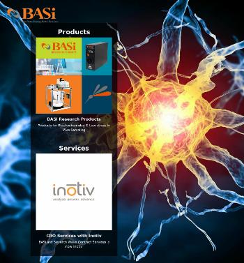 Bioanalytical Systems, Inc. Website Screenshot