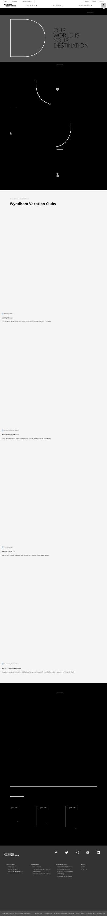 Wyndham Destinations, Inc. Website Screenshot