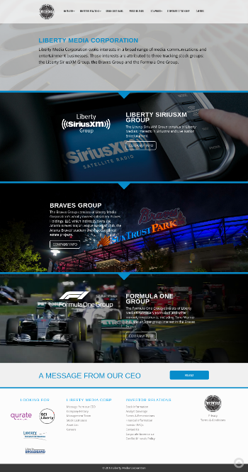 The Liberty SiriusXM Group Website Screenshot