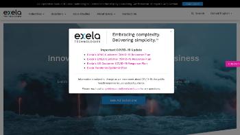Exela Technologies, Inc. Website Screenshot