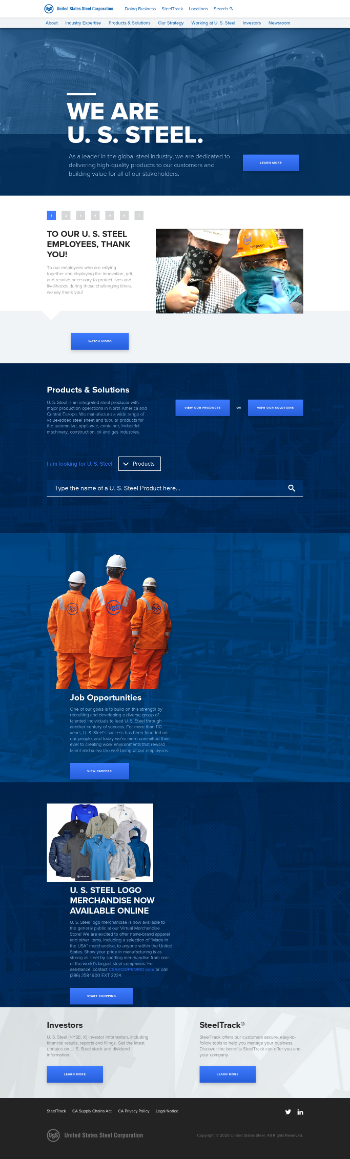 United States Steel Corporation Website Screenshot