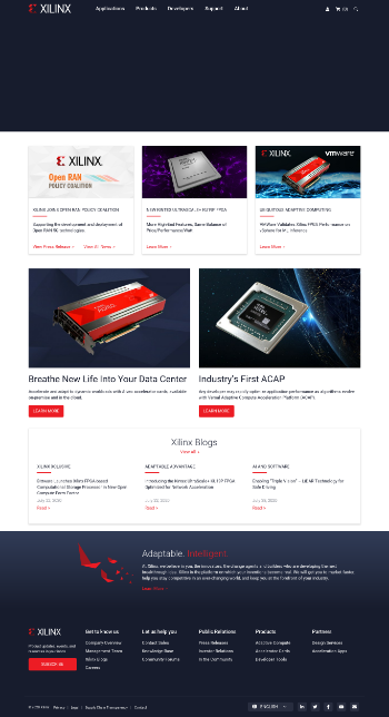 Xilinx, Inc. Website Screenshot