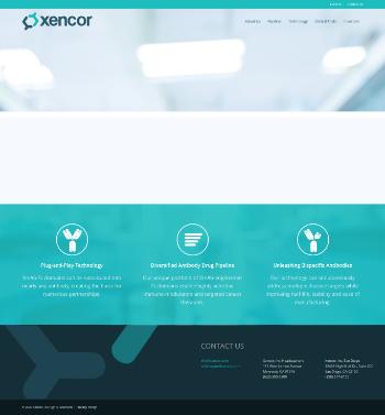 Xencor, Inc. Website Screenshot