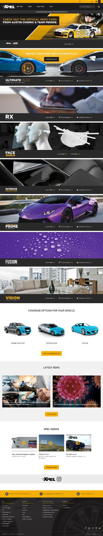 XPEL, Inc. Website Screenshot