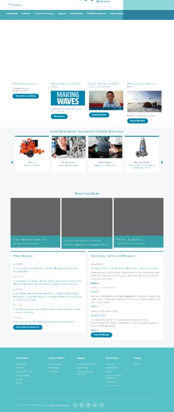 Xylem Inc. Website Screenshot
