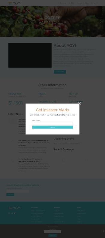 Youngevity International, Inc. Website Screenshot