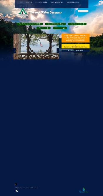 The York Water Company Website Screenshot