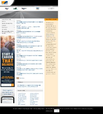 YRC Worldwide Inc. Website Screenshot