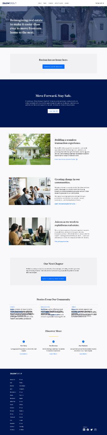 Zillow Group, Inc. Website Screenshot