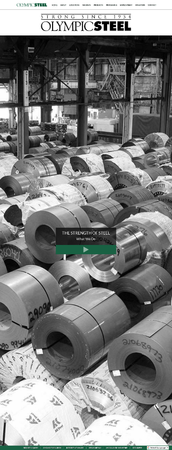 Olympic Steel, Inc. Website Screenshot