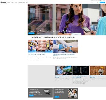 Zebra Technologies Corporation Website Screenshot