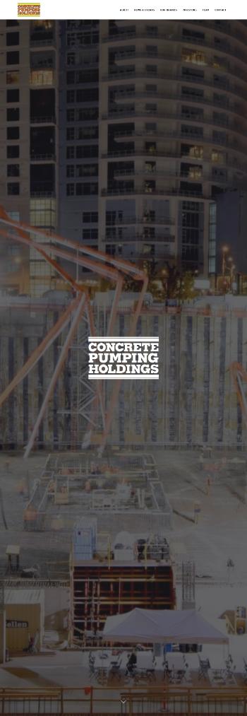 Concrete Pumping Holdings, Inc. Website Screenshot