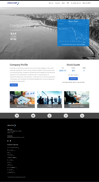 Credicorp Ltd. Website Screenshot
