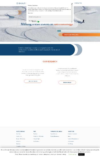 Brickell Biotech, Inc. Website Screenshot