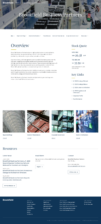Brookfield Business Partners L.P. Website Screenshot