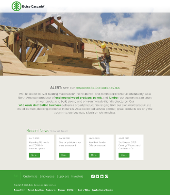 Boise Cascade Company Website Screenshot