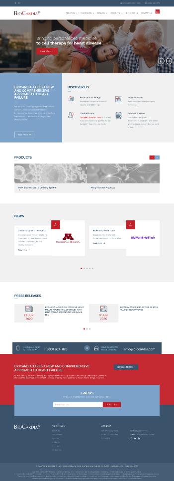 BioCardia, Inc. Website Screenshot