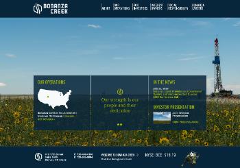 Bonanza Creek Energy, Inc. Website Screenshot